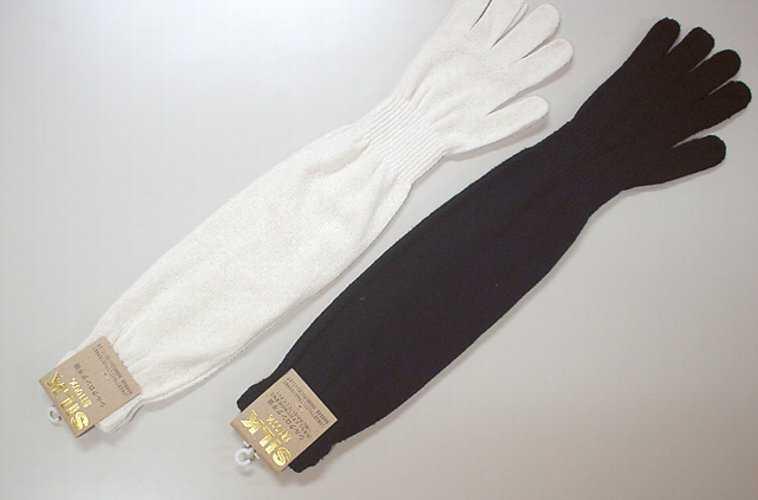 絹の手袋 ロング